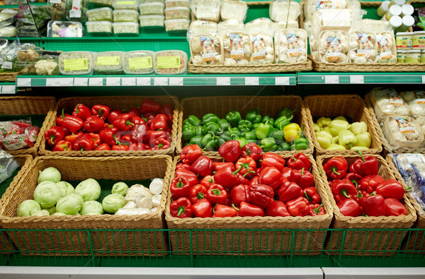 bell peppers or paprika at grocery store Stock photo © dolgachov