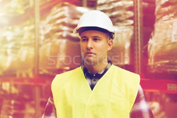 Uomo magazzino persone Foto d'archivio © dolgachov