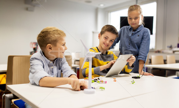 Crianças programação robótica escolas educação Foto stock © dolgachov