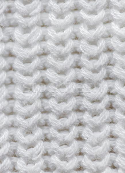 Maglia articolo cucito texture bianco Foto d'archivio © dolgachov