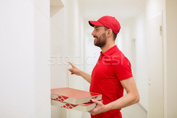 Pizza cases sonnette alimentaire livraison Photo stock © dolgachov
