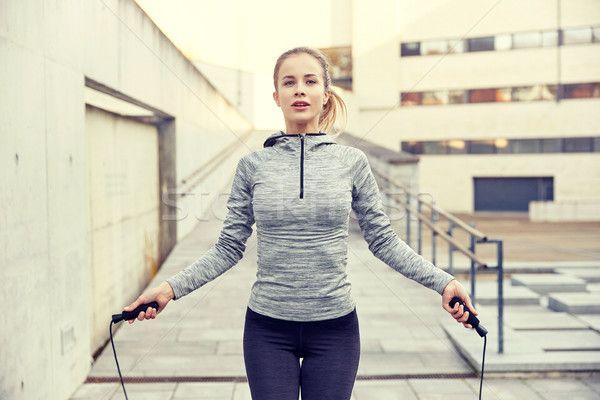 Stock fotó: Nő · testmozgás · kint · fitnessz · sport · emberek