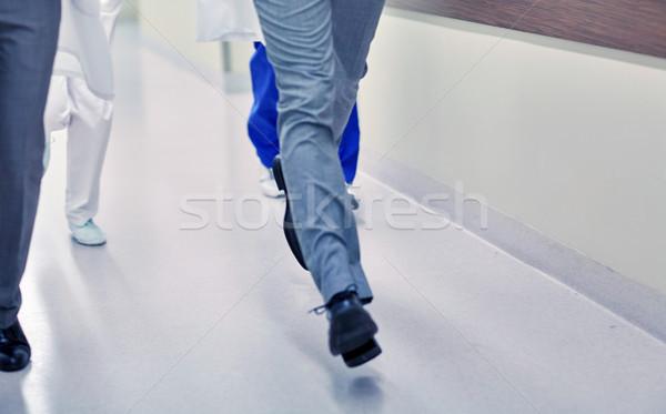 医師 を実行して 病院 医療 人 ストックフォト © dolgachov