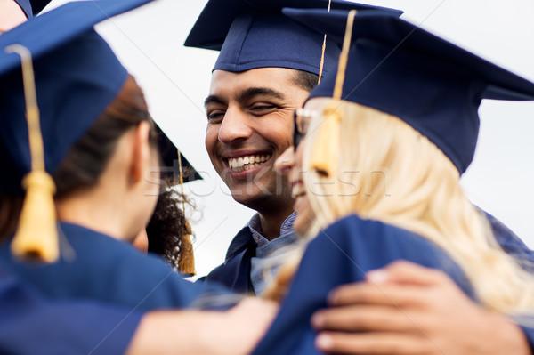幸せ 学生 独身 教育 卒業 人 ストックフォト © dolgachov