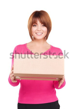 businesswoman with parcel Stock photo © dolgachov