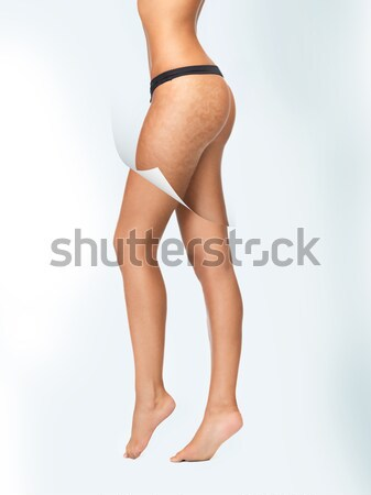 legs and back of lady in pink skirt Stock photo © dolgachov