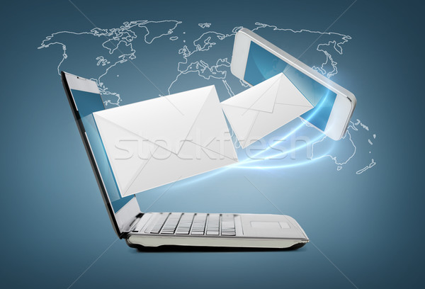 смартфон ноутбука технологий интернет компьютер Сток-фото © dolgachov