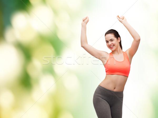 Uśmiechnięty odzież sportowa taniec fitness diety Zdjęcia stock © dolgachov