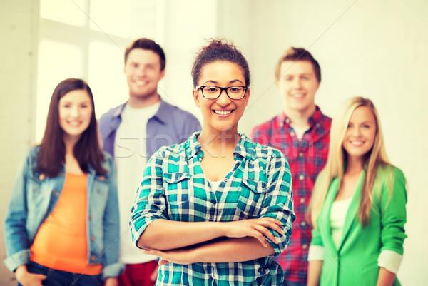 Zdjęcia stock: Grupy · studentów · szkoły · edukacji · kobieta · kobiet