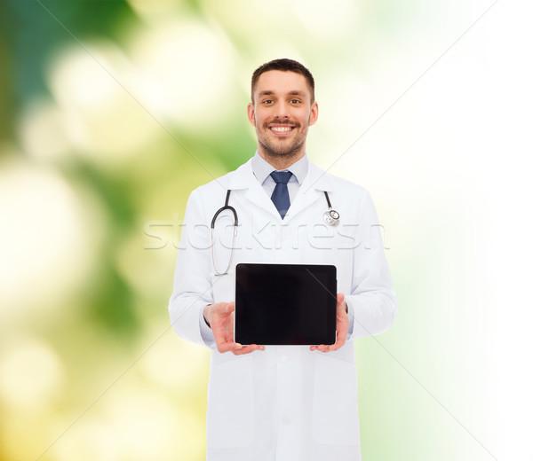 Foto stock: Sonriendo · doctor · de · sexo · masculino · medicina · profesión · salud