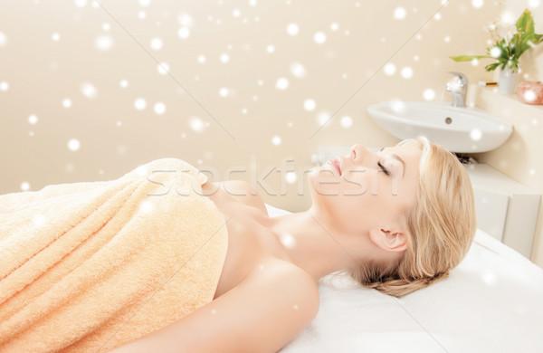 Stock photo: beautiful young woman in spa
