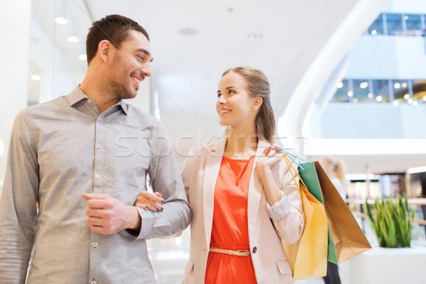 Gelukkig mall verkoop Stockfoto © dolgachov