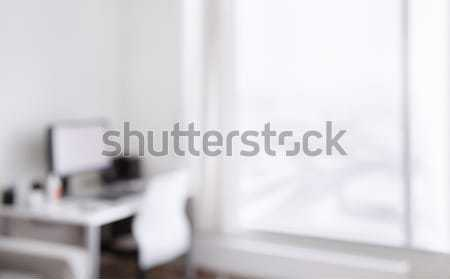 working place at home with computer Stock photo © dolgachov
