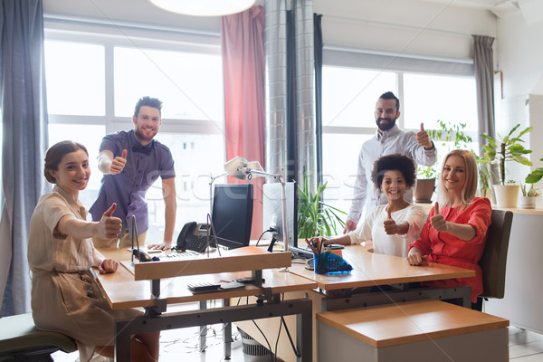Stockfoto: Gelukkig · creatieve · team · tonen · kantoor