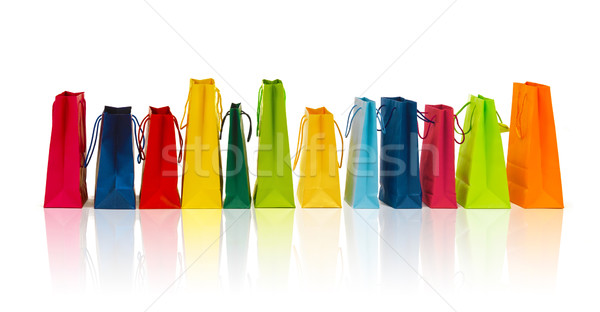 many colorful shopping bags Stock photo © dolgachov