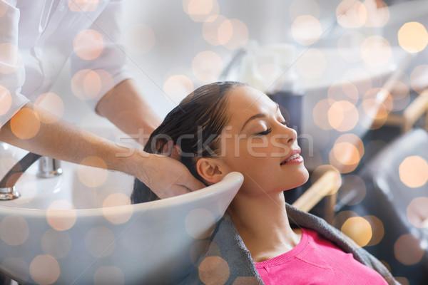 Felice parrucchiere bellezza persone Foto d'archivio © dolgachov