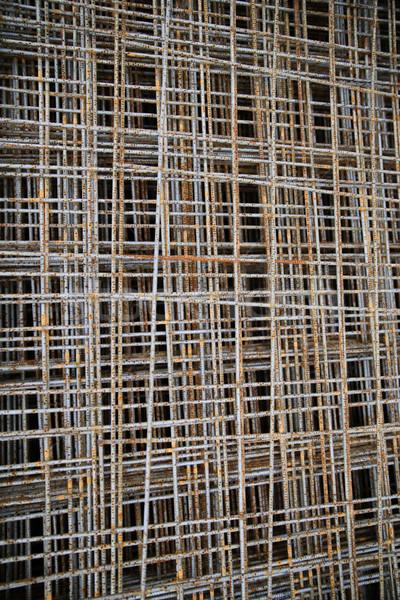 Сток-фото: ржавые · сетке · здании · строительство · материальных