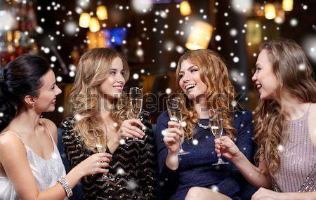 Mutlu gece şehir parti tatil Stok fotoğraf © dolgachov
