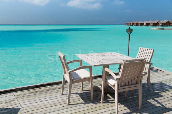 Stockfoto: Outdoor · restaurant · terras · meubels · zee · reizen