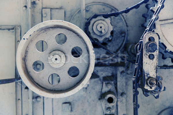Vintage máquina mecanismo fábrica agricultura indústria Foto stock © dolgachov