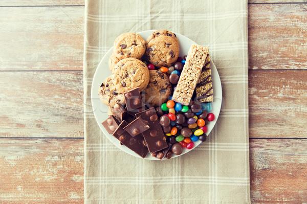 Czekolady musli cookie Zdjęcia stock © dolgachov