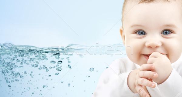 Heureux bébé bleu personnes garde d'enfants Photo stock © dolgachov