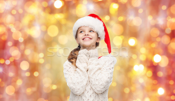 Menina ajudante seis natal Foto stock © dolgachov