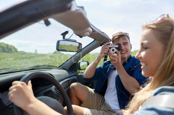 Stockfoto: Man · vrouw · rijden · auto · film