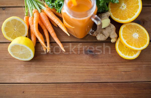 Vetro brocca frutti verdura Foto d'archivio © dolgachov