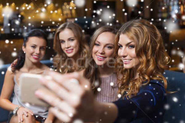 女性 スマートフォン ナイトクラブ お祝い 友達 ストックフォト © dolgachov