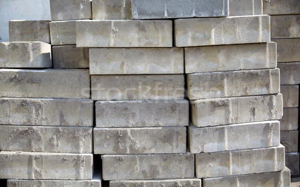 Batch Steine Bau Gebäude Material Stein Stock foto © dolgachov