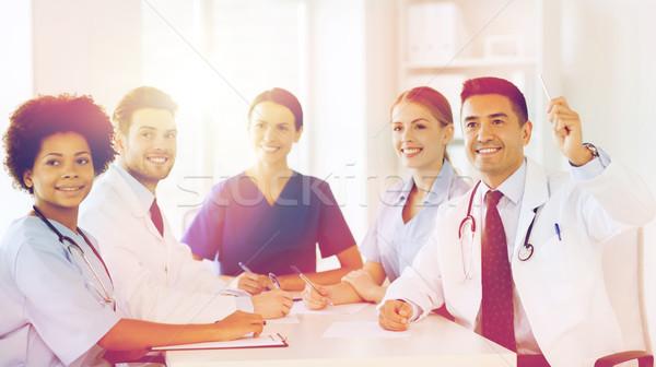 Groupe heureux médecins conférence hôpital profession Photo stock © dolgachov