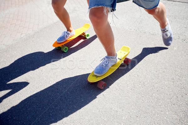 十代の カップル ライディング 市 道路 夏 ストックフォト © dolgachov