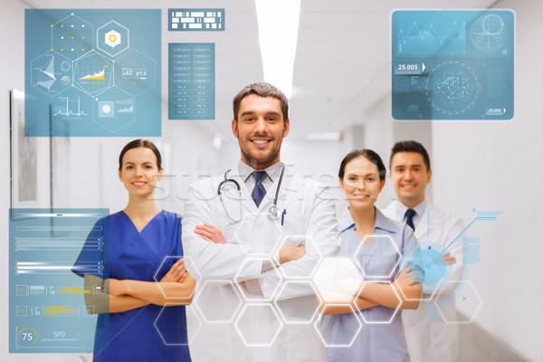 счастливым группа врачи больницу люди здравоохранения Сток-фото © dolgachov