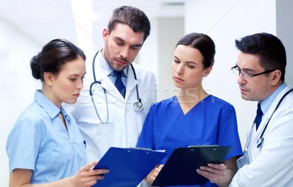 Groep ziekenhuis kliniek beroep mensen Stockfoto © dolgachov