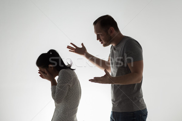 Stock photo: angry couple having argument