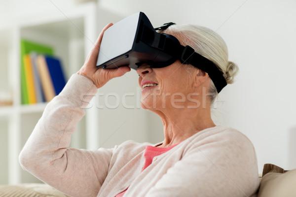 Velha virtual realidade fone óculos 3d tecnologia Foto stock © dolgachov