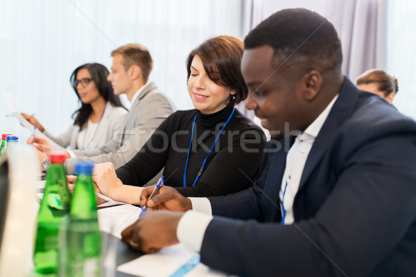 Stock photo: business team at international conference
