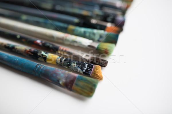 грязные кисти Живопись креативность Сток-фото © dolgachov