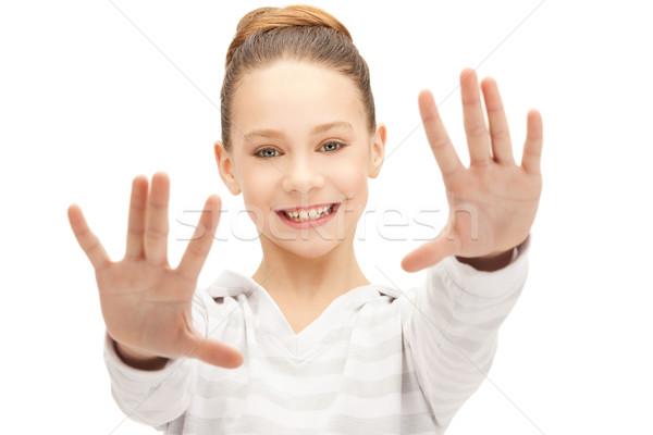 Stock photo: happy teenage girl