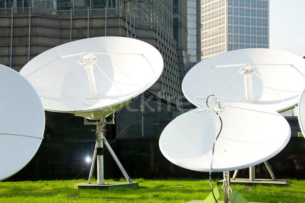 parabolic satellite dish receivers Stock photo © dolgachov