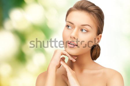 Stock photo: woman with purple cocktail ring