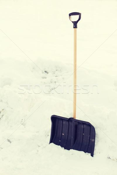 Preto manusear neve inverno Foto stock © dolgachov