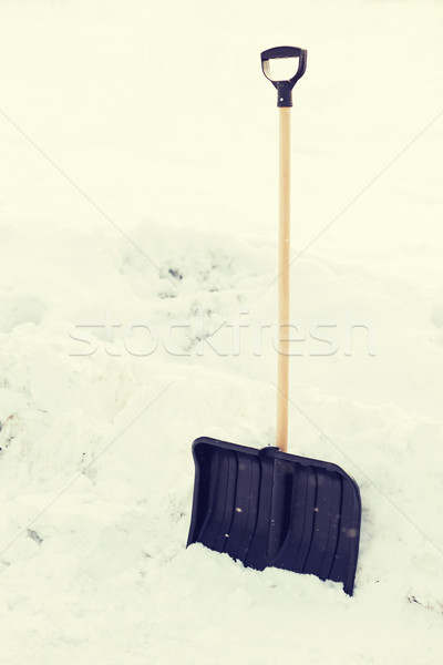 Zwarte houten behandelen sneeuw winter Stockfoto © dolgachov