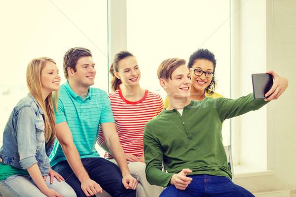 Sonriendo estudiantes Foto educación Foto stock © dolgachov