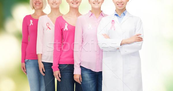 Vrouwen kanker bewustzijn gezondheidszorg Stockfoto © dolgachov