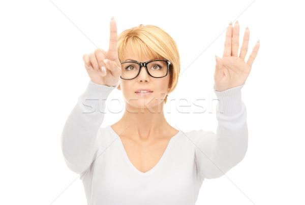 Photo stock: Femme · d'affaires · travail · quelque · chose · imaginaire · photos · femme
