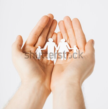 Stock photo: close up of male gay couple with love symbol