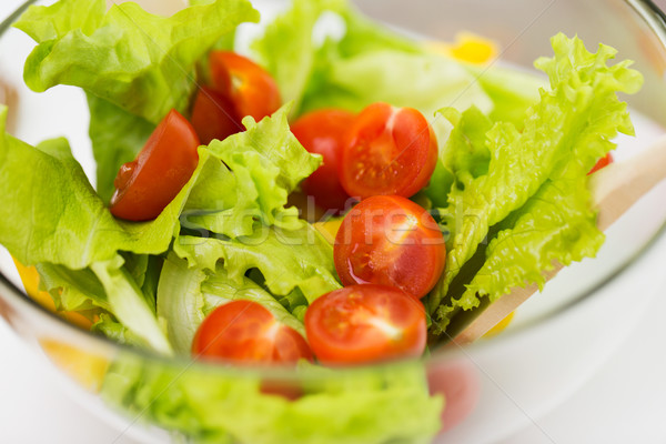 close up of vegetable salad with cherry tomato Stock photo © dolgachov
