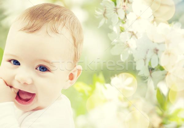 closeup of happy baby boy  Stock photo © dolgachov